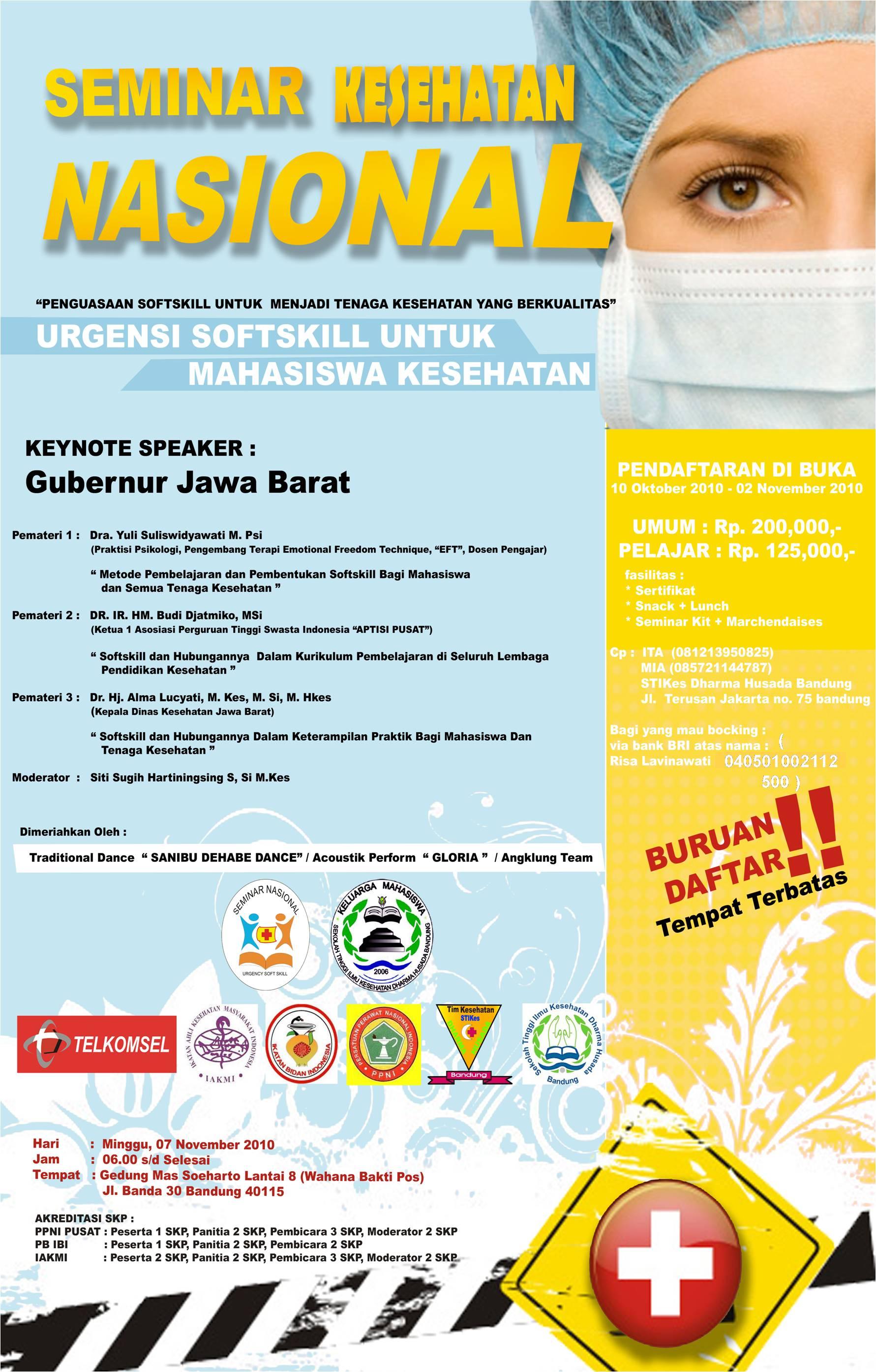 pamflet semnas Seminar Nasional STIKes